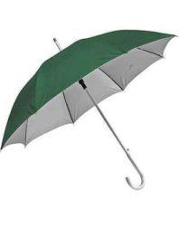 Зонт-трость с пластиковой ручкой под алюминий