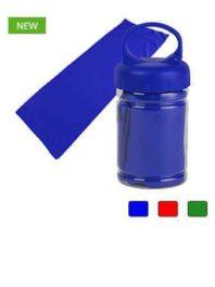 Полотенце спортивное в бутылке с карабином